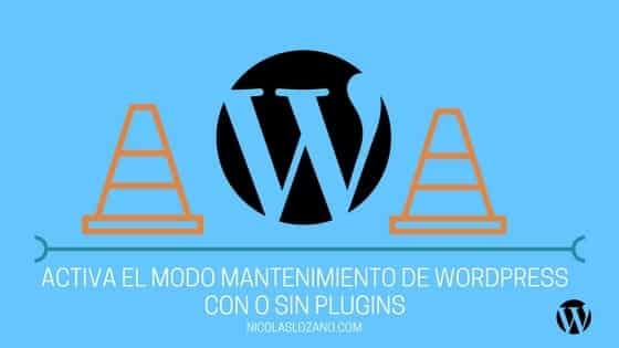 Modo mantenimiento de WordPress