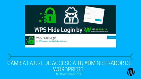 cambiar la url de administrador de wordpress